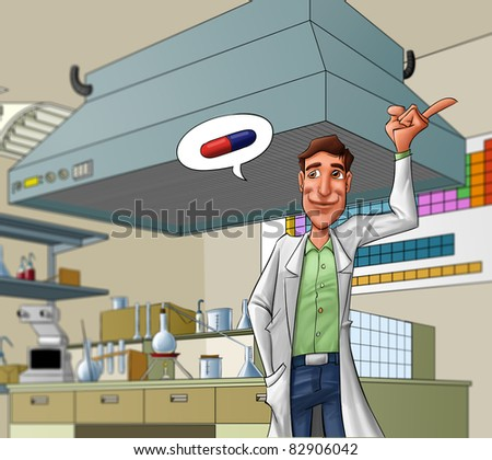 medic talking about medicine - stock photo