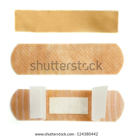 Medical adhesive plaster - stock photo
