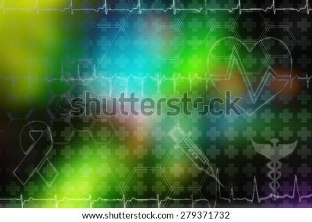 medical background - stock photo