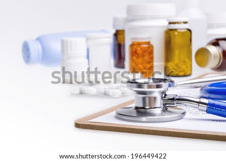 Medical background concept - stock photo