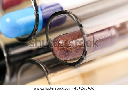 Medical background with pills and test tube pills pill test tube testing science pills pill test tube testing science pills pill test tube testing science pills pill test tube testing science pills pi - stock photo