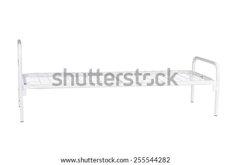medical bed isolated under the white background