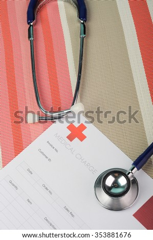 Medical Bill with Stethoscope.
