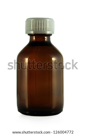 Medical bottle isolated on white - stock photo