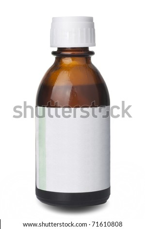 Medical bottle of brown color - stock photo