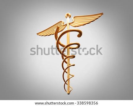 Medical Caduceus - stock photo