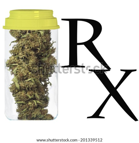 medical cannabis concept - stock photo