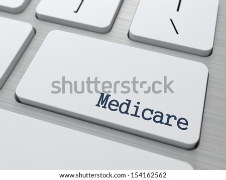 Medical Care. Social Concept. Button on Modern Computer Keyboard. 3D Render. - stock photo