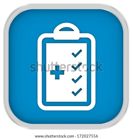 Medical Checklist sign on a white background. Part of a series.  - stock photo
