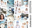 Medical collage made of many pictures - stock photo