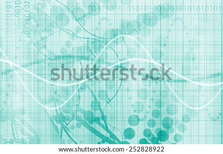 Medical Consulting with Futuristic Health Data - stock photo