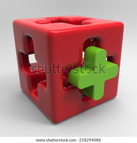 Medical cube - stock photo