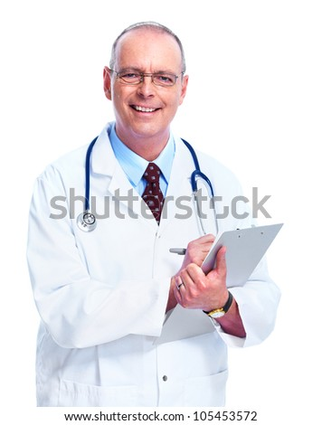 Medical doctor. Isolated on white background.