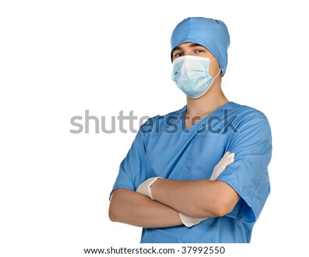 Medical doctor. Isolated over white background