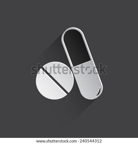 medical drugs web flat icon illustration. - stock photo