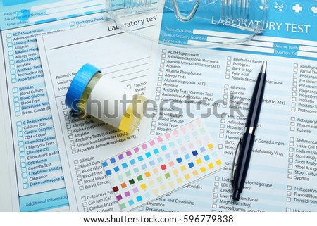 Medical Equipment Laboratory Test Forms Urology Stock Photo (Royalty on anatomy test forms, medical pathology lab results chart, blood work order forms, blank laboratory forms, medical lab tests, quest lab test order forms, medical test results, laboratory test request forms, electrical test forms, laboratory blood requisition forms, urinalysis test forms, psychology test forms,