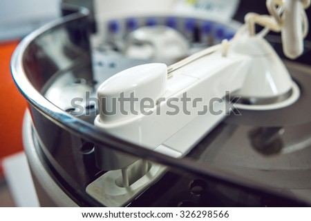 Medical equipment. Biochemistry test. - stock photo