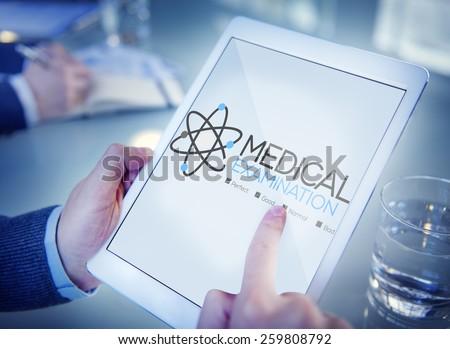 Medical Examination Check Up Diagnosis Wellness Concept - stock photo