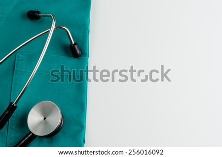medical examination, stethoscope, medicine and therapy, background - stock photo