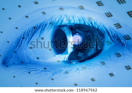medical eye chart background - stock photo