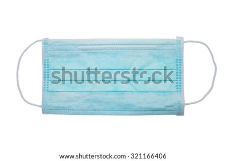 medical face mask isolated on white background - stock photo