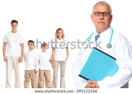 Medical family doctor and patients.  - stock photo