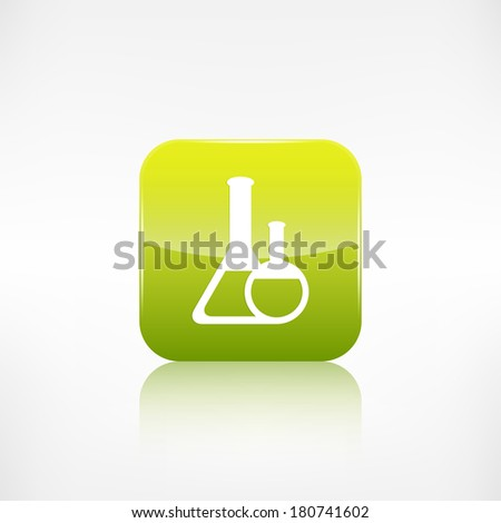 Medical flack icon. Application button. - stock photo