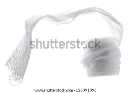 Medical gauze isolated - stock photo