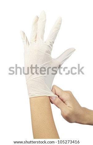 Medical glove to protection and care for patients - stock photo