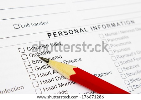 stock-photo-medical-history-questionnaire-176671286 Medical Claim Form Anthem Blue Cross Shield on anthem blue cross california forms, anthem health claim form, anthem reimbursement forms, anthem bcbs insurance card, anthem blue cross health, anthem provider forms,