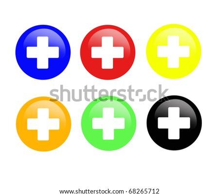 Medical icons. Set - stock photo