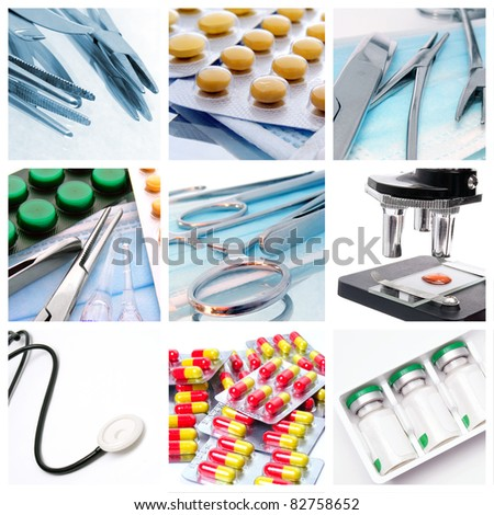 Medical instruments and preparats - stock photo