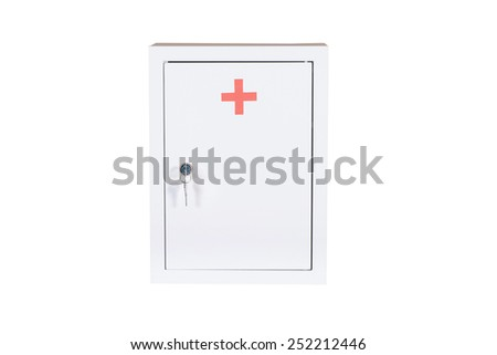 Medical kit isolated under the white background - stock photo