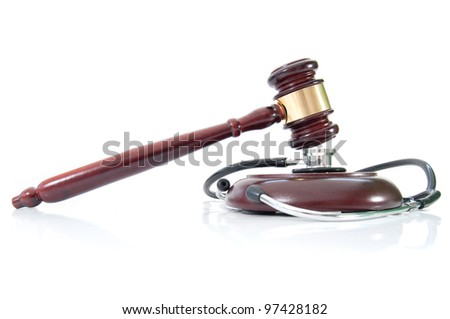 Medical law - stock photo