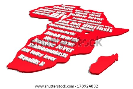 medical map of africa - stock photo