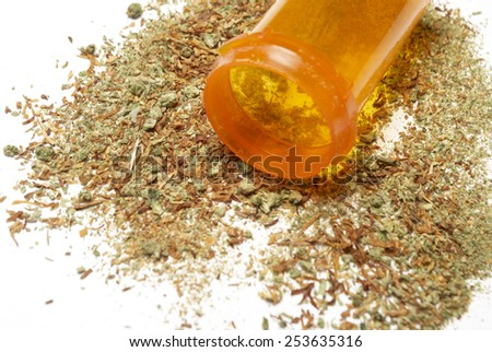 Medical Marijuana, White Background