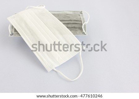 medical mask on a white background