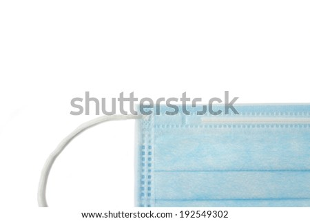 Medical mask on an isolated background - stock photo