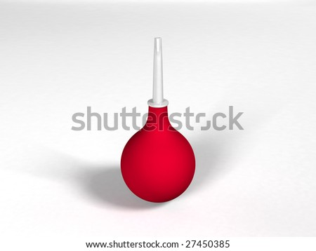 Medical pear isolated over a white background (enema) - stock photo