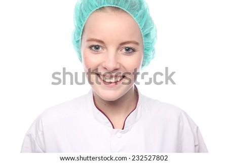 Medical people: woman nurse - stock photo