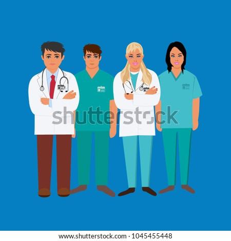 Medical Personal Doctor LPN RN CNA Stock Illustration 1045455448 ...