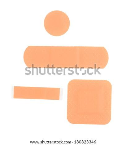 Medical plaster isolated on white - stock photo
