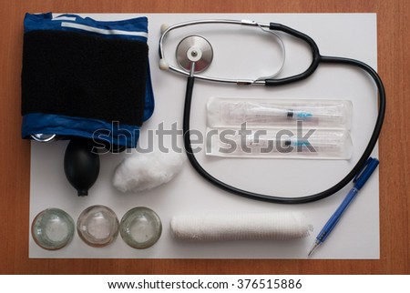 Medical products and equipment - stock photo