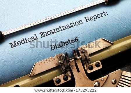 Medical report - Diabetes - stock photo
