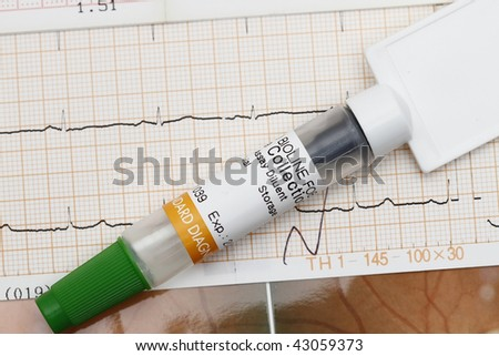Medical result with spatula concept for medical check-up. - stock photo