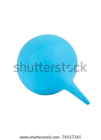 Medical rubber enema on a white background - stock photo
