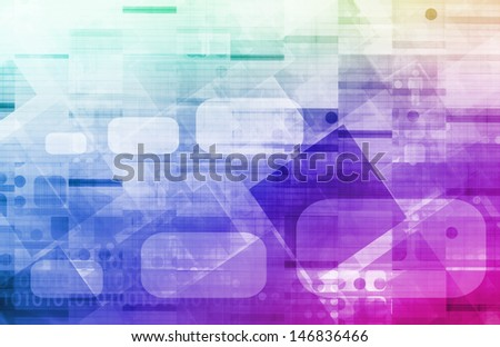 Medical Science and Corporate Research As Art - stock photo