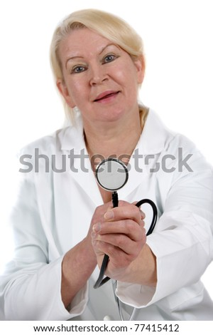 medical staff with a focus on stethoscope