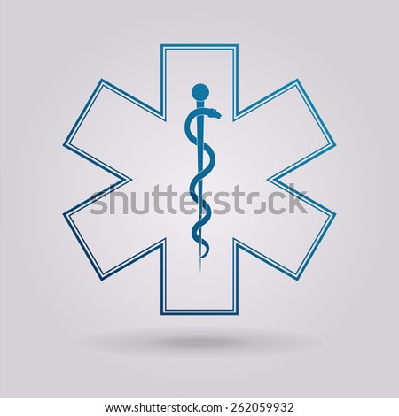 Medical symbol of the Emergency - Star of Life  - stock photo
