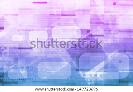 Medical Technology Background as a Art Concept - stock photo